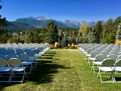 outdoor wedding, Rocky Mountains, Stanley Hotel